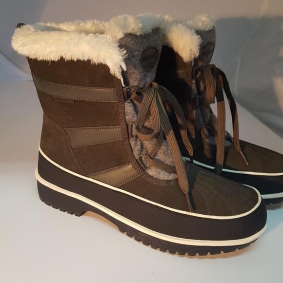Waterproof Brienne Boot Olive Green 10